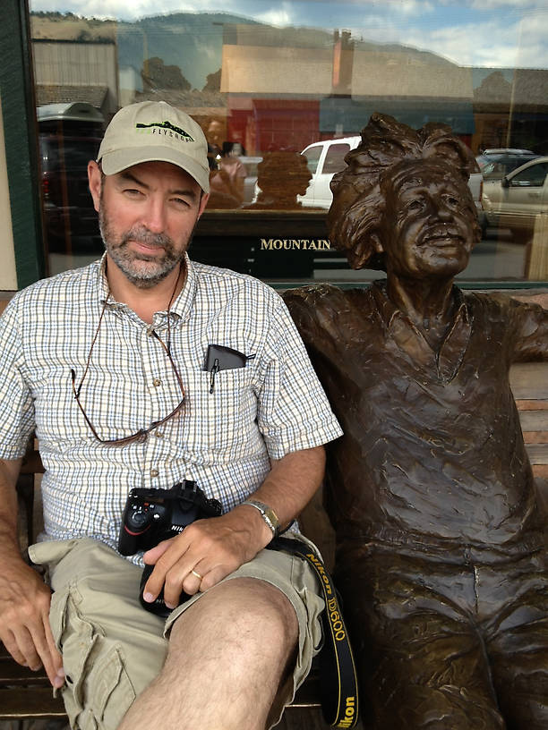 Spence and an old buddy hanging out in Jackson Hole Wyoming...Of all places!