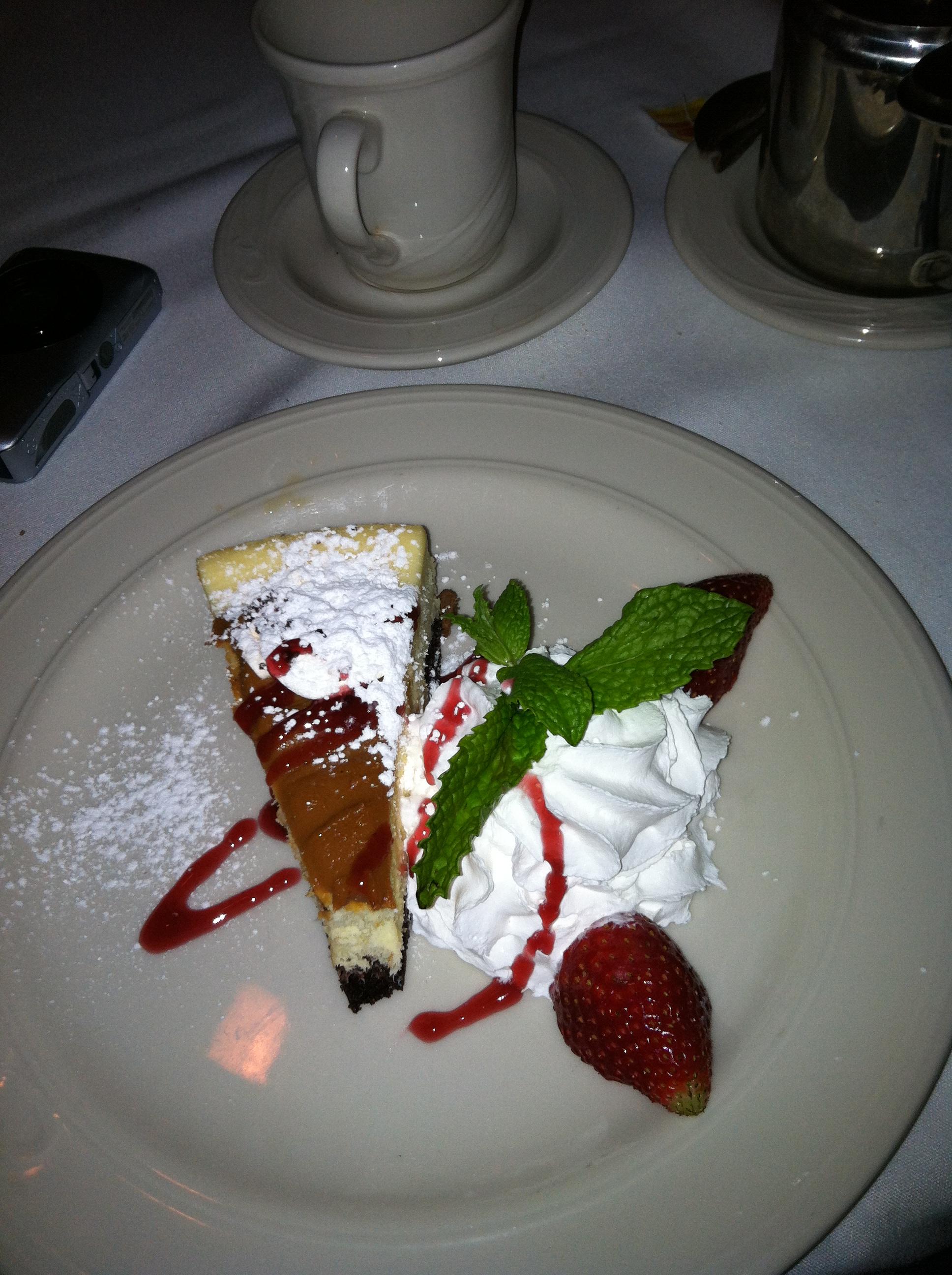 Yum...Caramel Cheesecake...Don't tell Lisa!