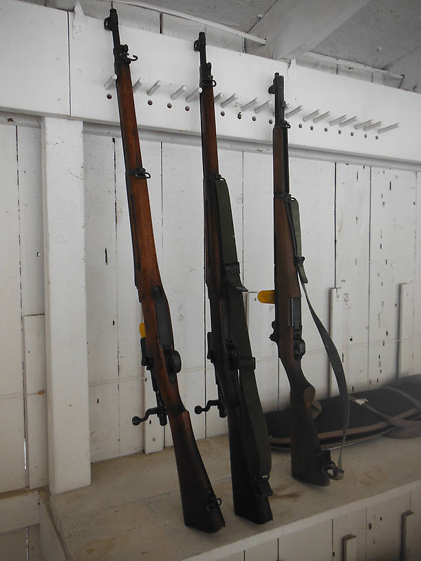 More fine old military rifles, the two on the left are Model of 1917 (.30-06 just like the Garand)