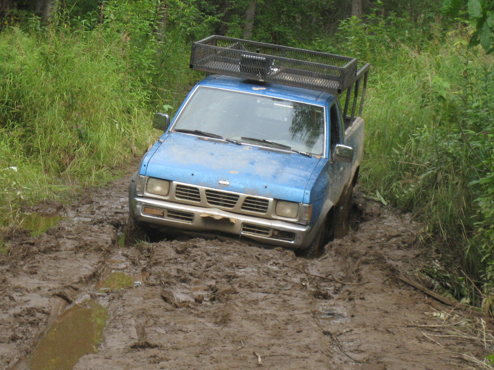 Getting stuck in the mud!