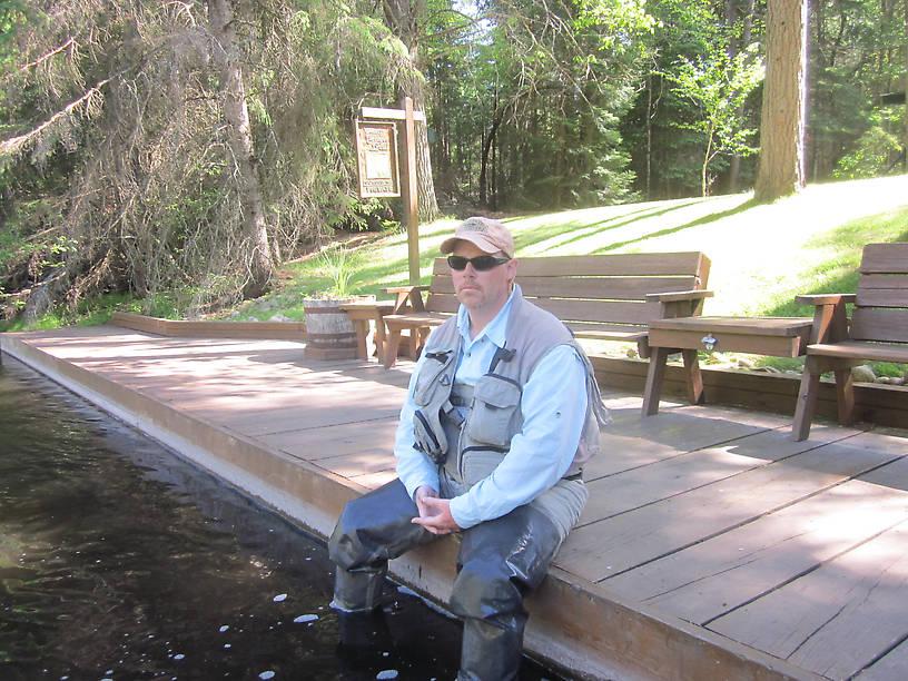 John on dock of Ginger Quill.