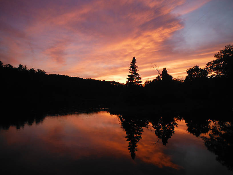 Sunset over Cooke Pond