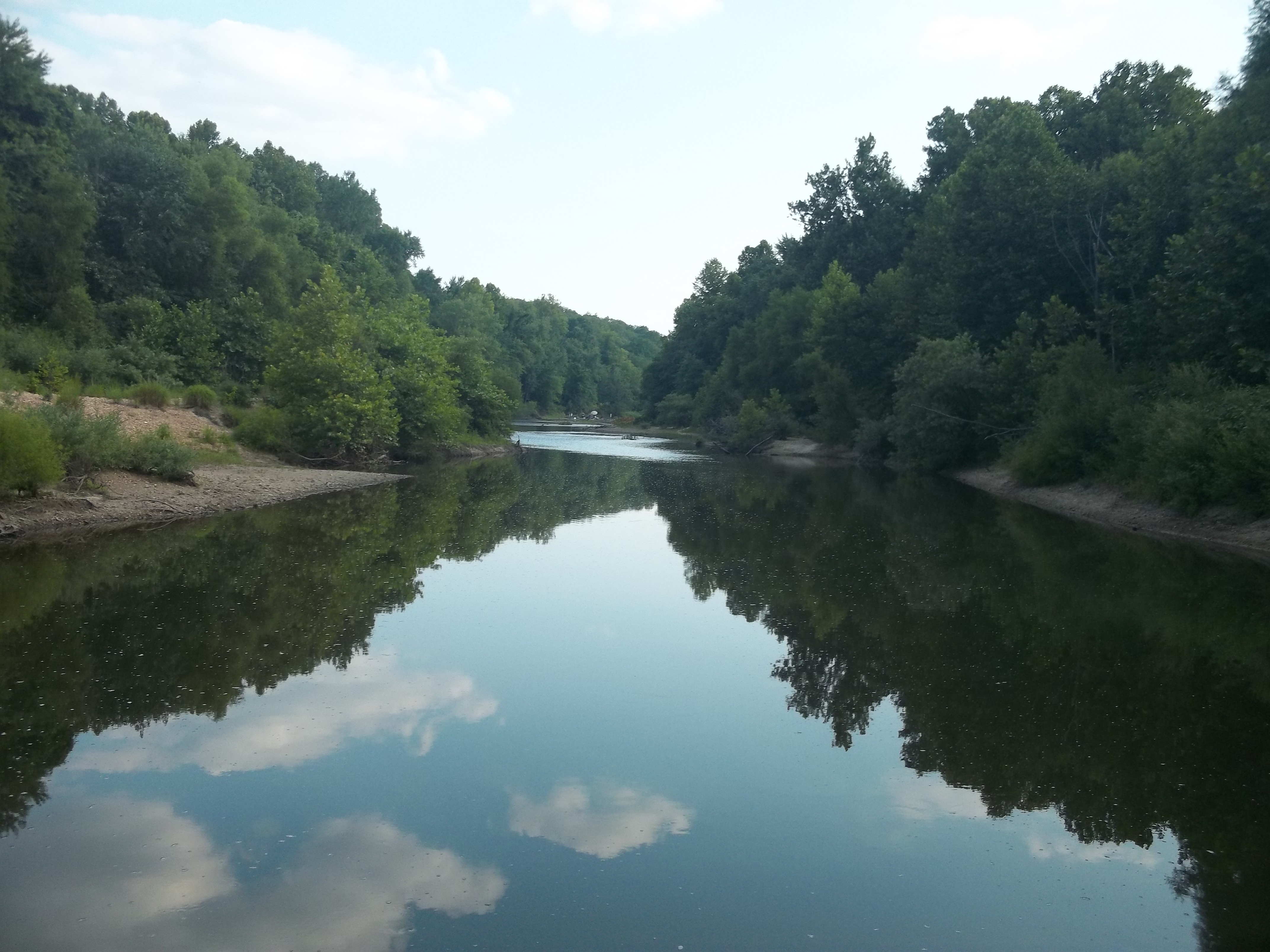 A pretty view upstream from a very good bass fishing pool.
