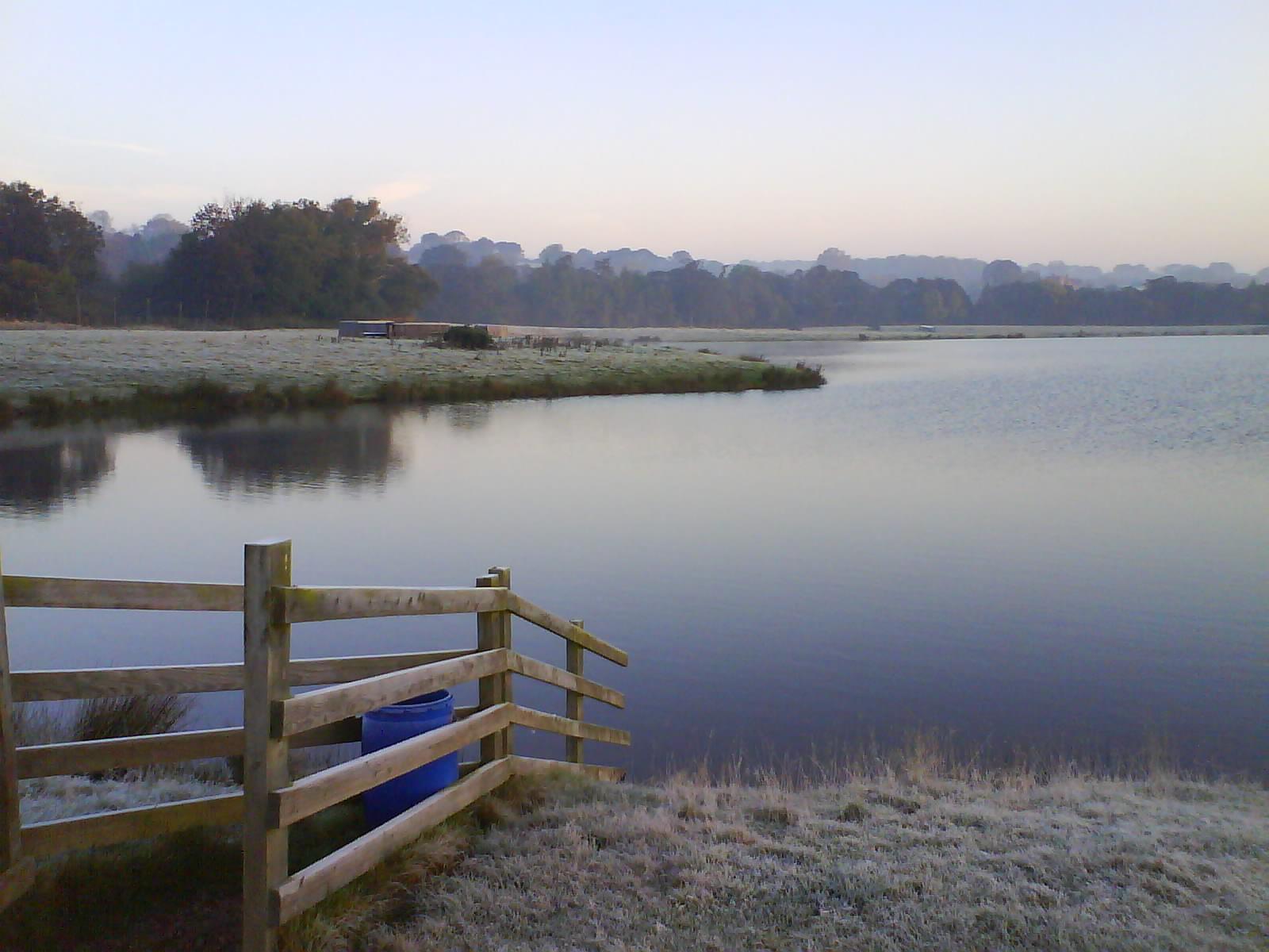 Crisp winter morning, Witton Castle Lake.