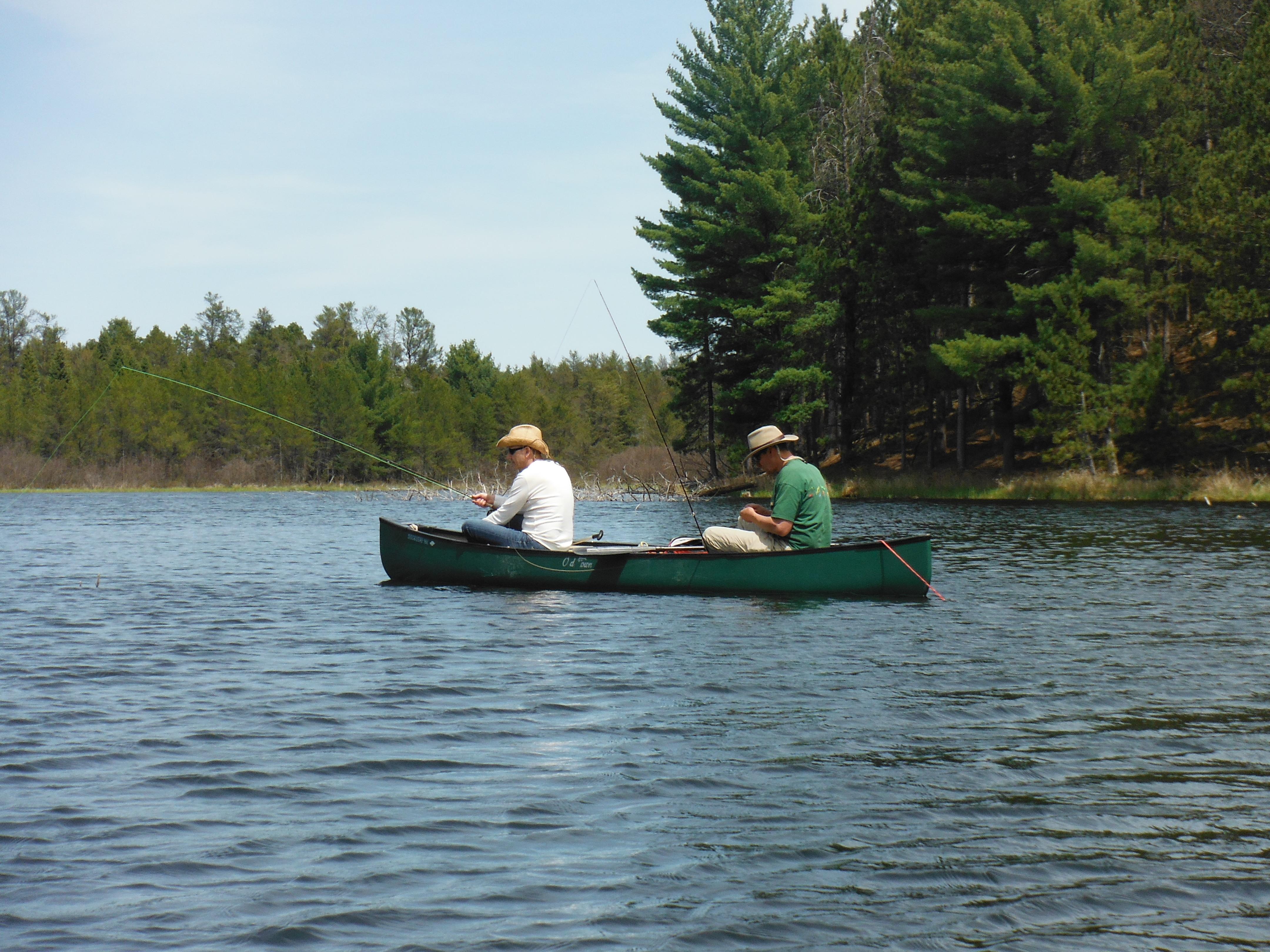 Joe and Todd afloat