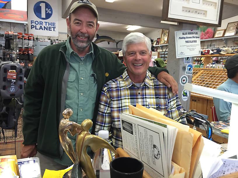 Two Michigan Boys! Craig Mathews at Blue Ribbon Flies in West Yellowstone