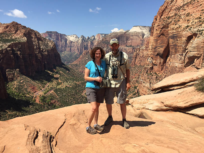 Lisa and me in Zion