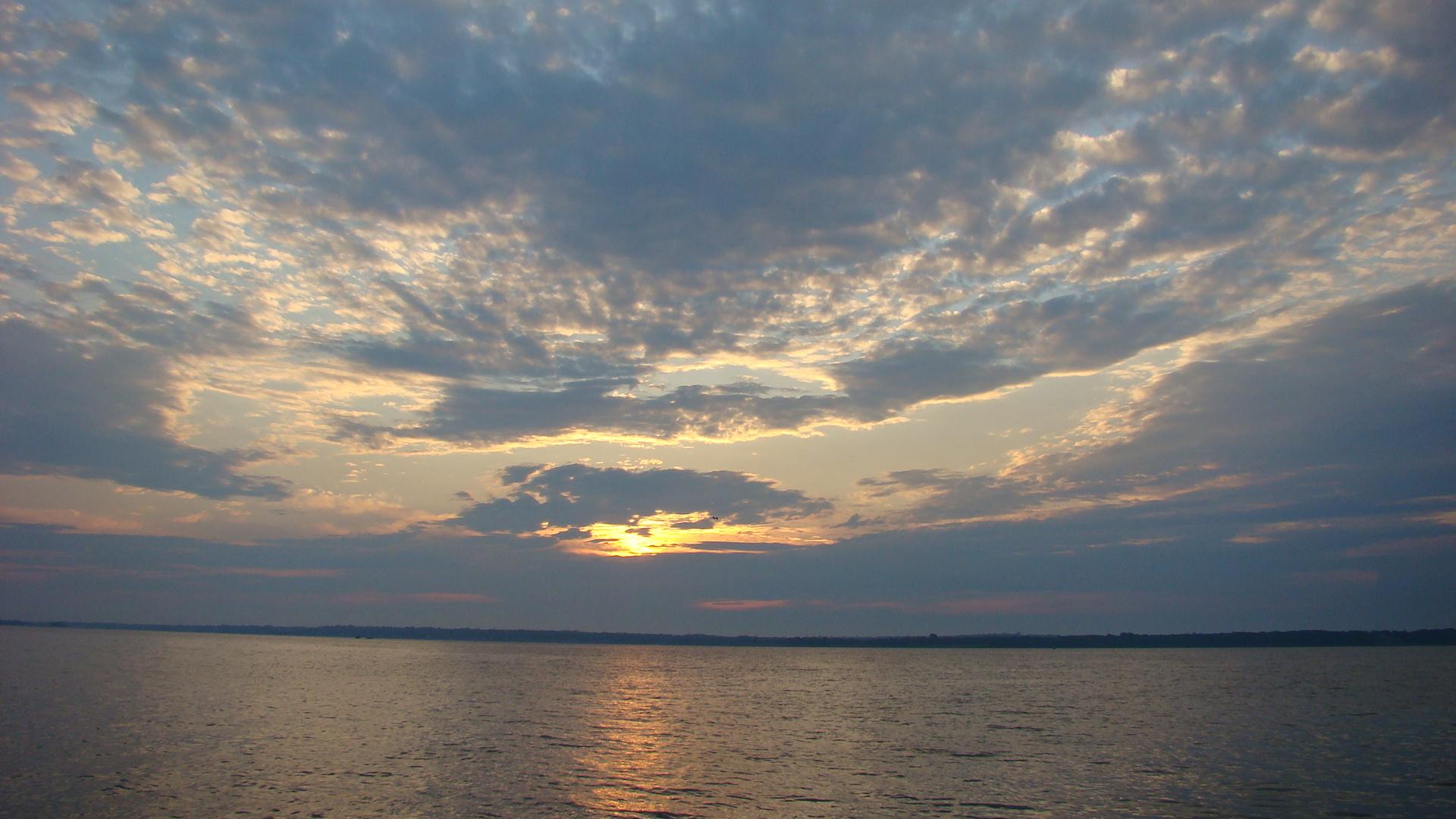 Sunrise over Naragansett Bay.