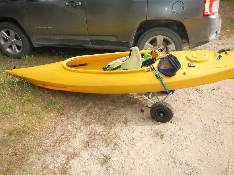 A picture of my kayak on wheels for David