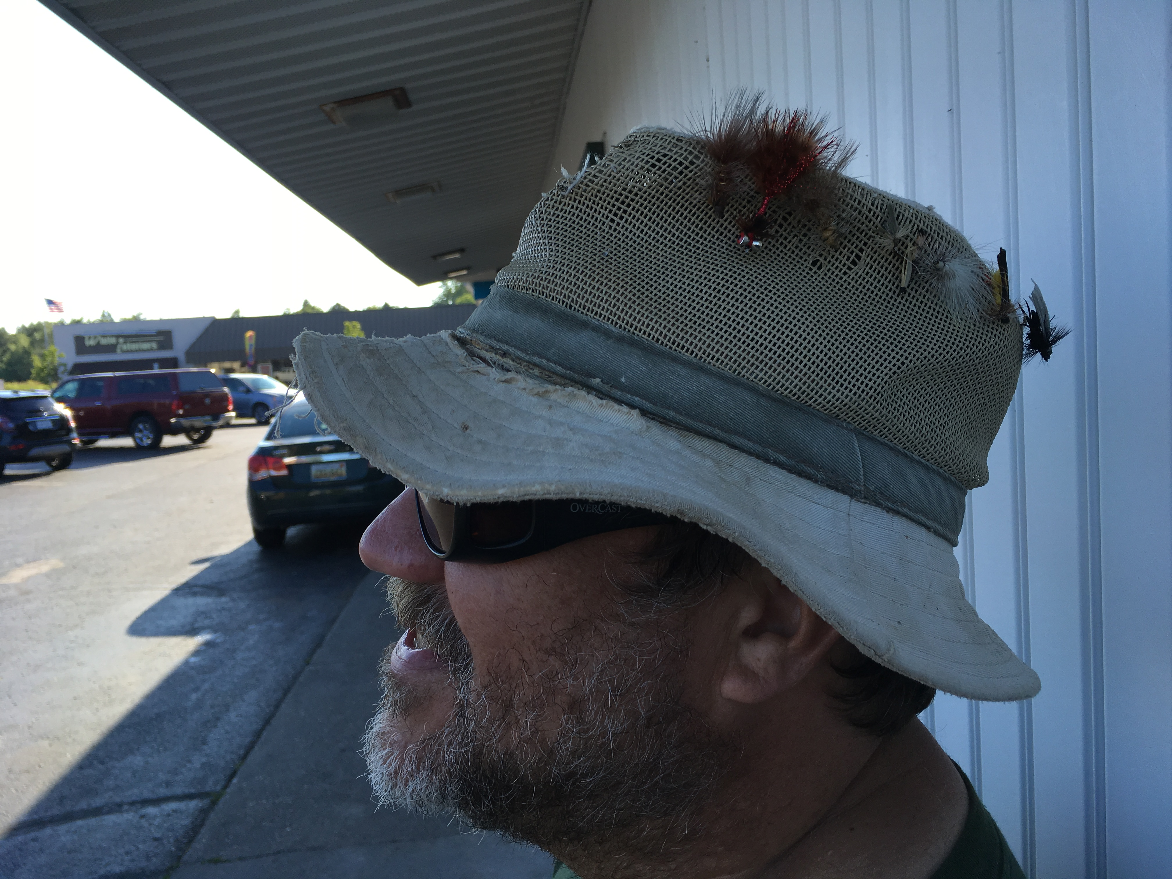 Yours truly with a few of the flies I have been throwing lately (but not enough!)