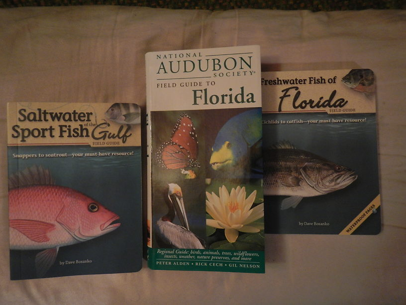 The two little books on the ends are waterproof & pocket-sized for fishing trips