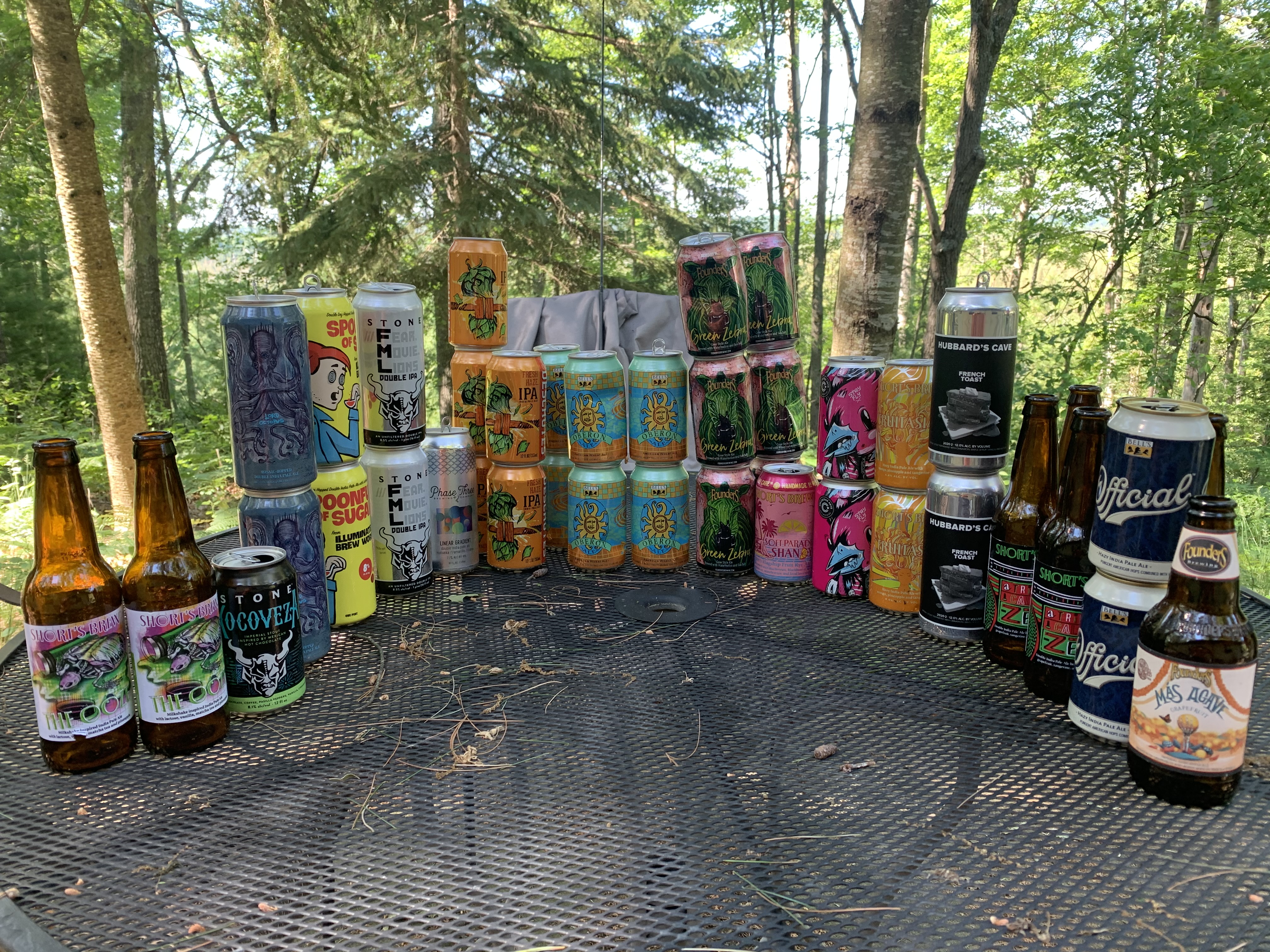 The Beer Display, lovingly created by Todd
