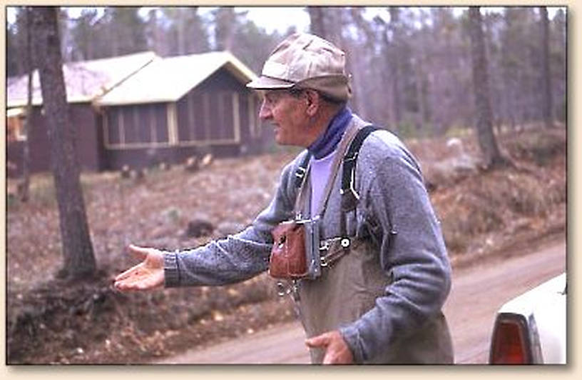 """This is a photo for Fred re: his post """"What's so Big about the Hex?"""" From Spence.  It's a photo of V Marinaro on the South Branch of the Au Sable in Michigan sometime in the late 60's."""