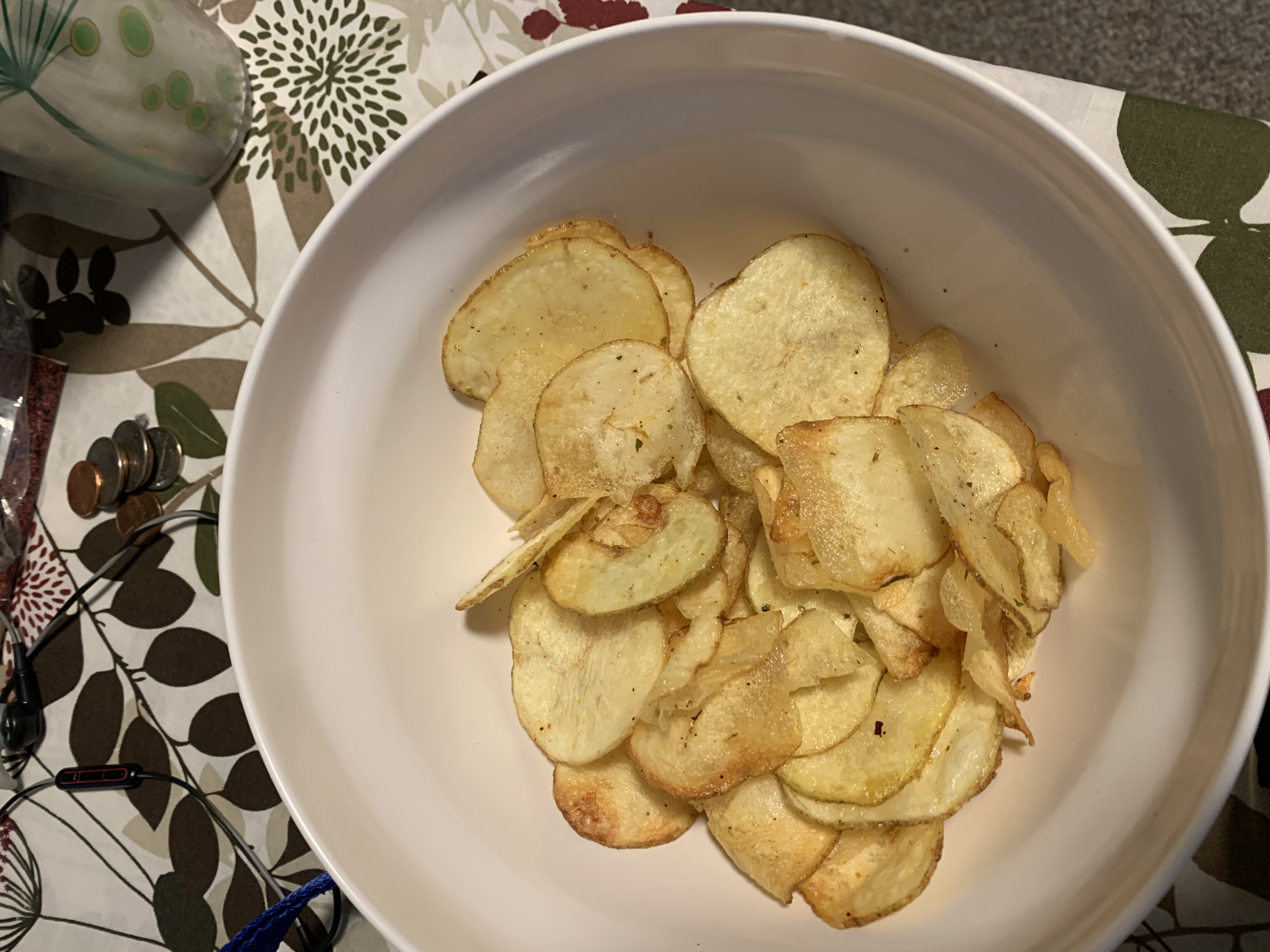 Home-made tater chips!