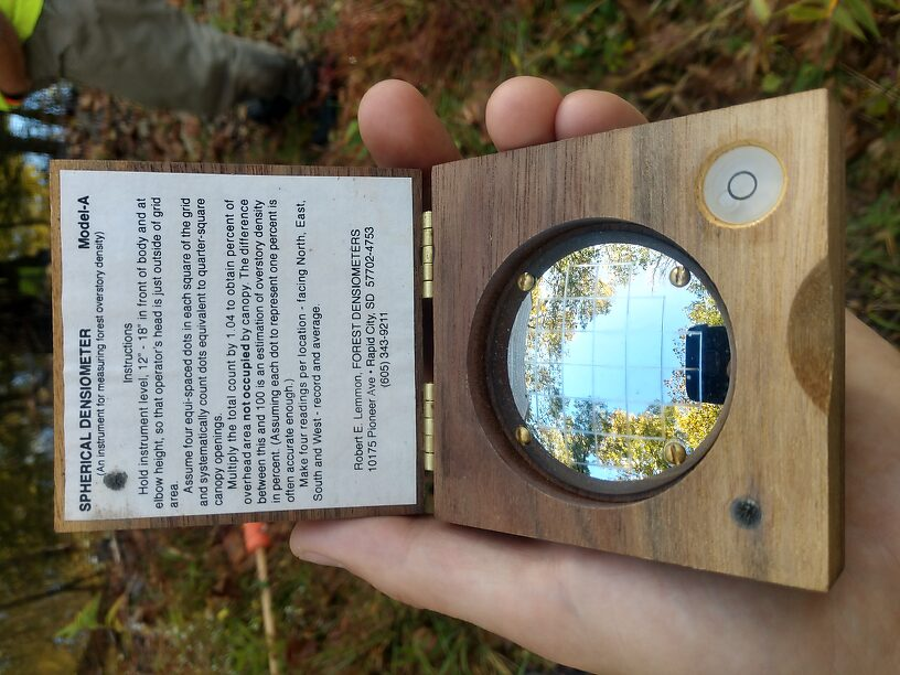Crown densiometer, for measuring canopy cover