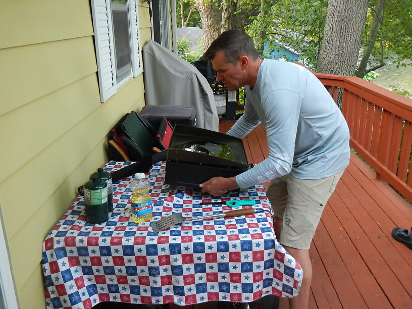 Todd firing up the griddle
