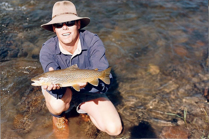1995 Eric Shores with Spence's torpedo Brown...Who loves wild trout?!