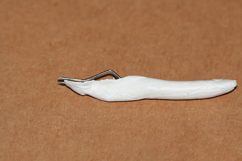 The tweezers I made for shaping tiny hooks.  They are about 2-1/2 inches long including handle.