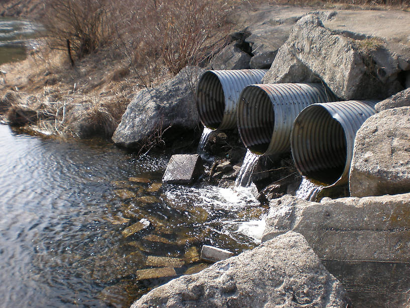 """""""Three Pipes"""" - a popular stop for canoeists and kayakers"""