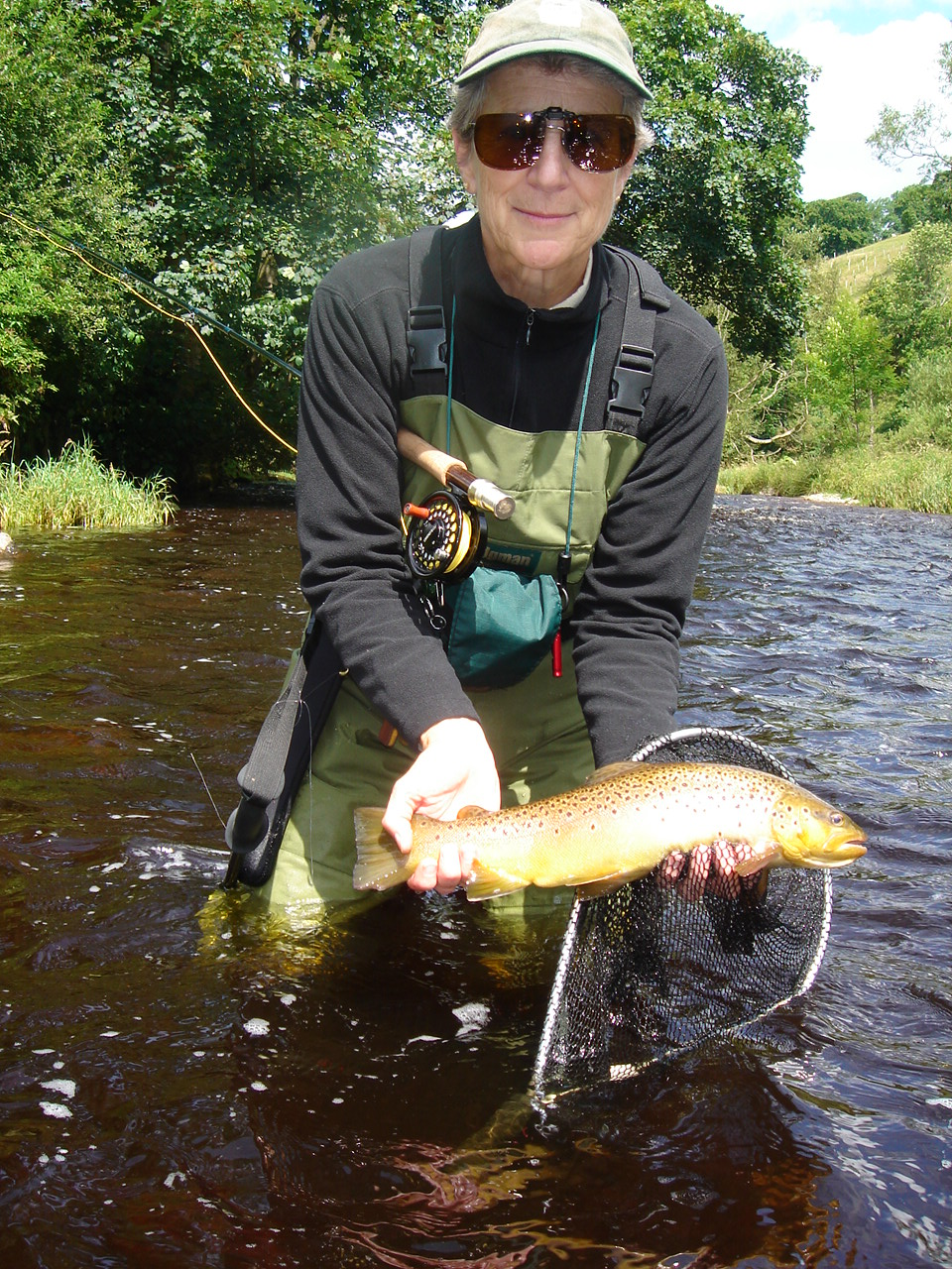 Fish of the Season, according to my guide.  his or mine?  forgot to ask.  British browns are a gorgeous golden brown, no two spot patterns anything alike.  for future recognition, no doubt.