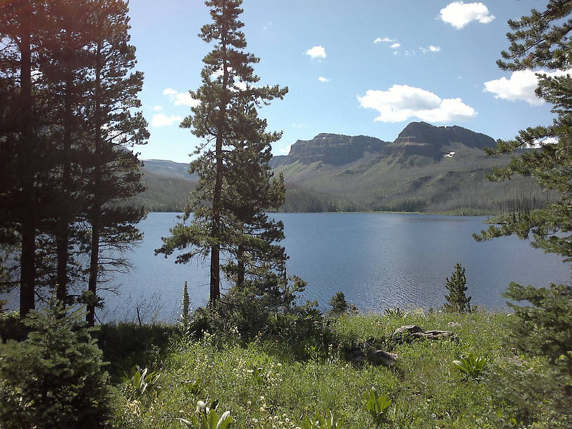 Trappers Lake in the Flat Tops Wilderness, just about 1 mile from camp