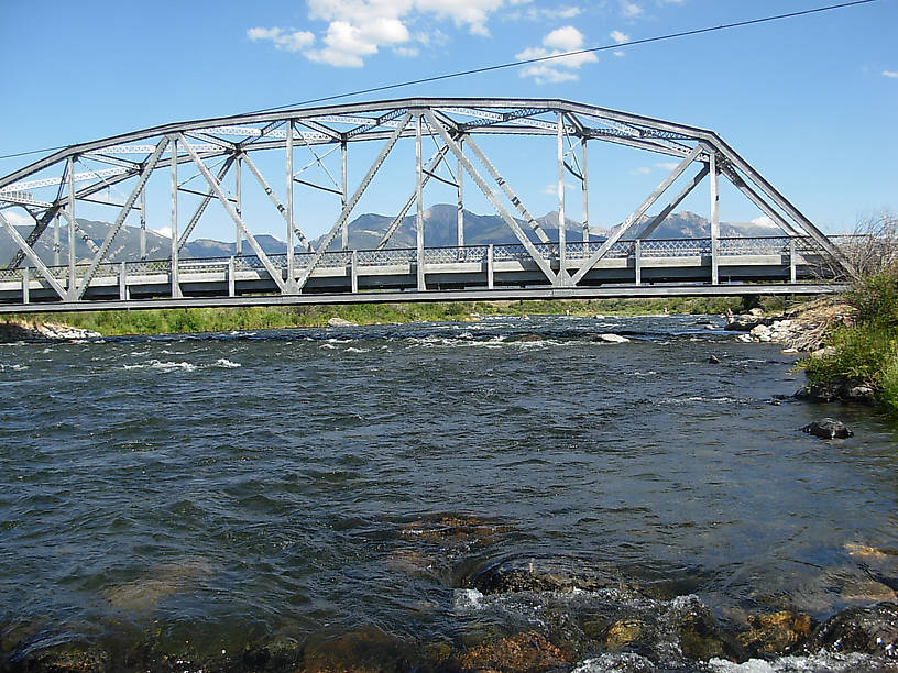 Of course, here is the shot of the Three Dollar Bridge and the tumbling Madison River.