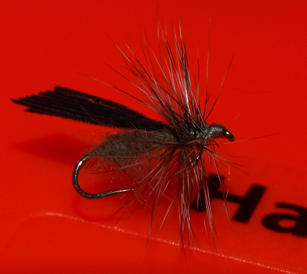 This is an imitation for the Little Black Sedge Hatch, mixed up a couple different patterns.